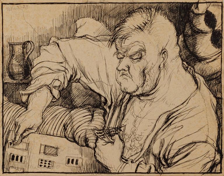 Carstensen beim Kartenlegen, 1928